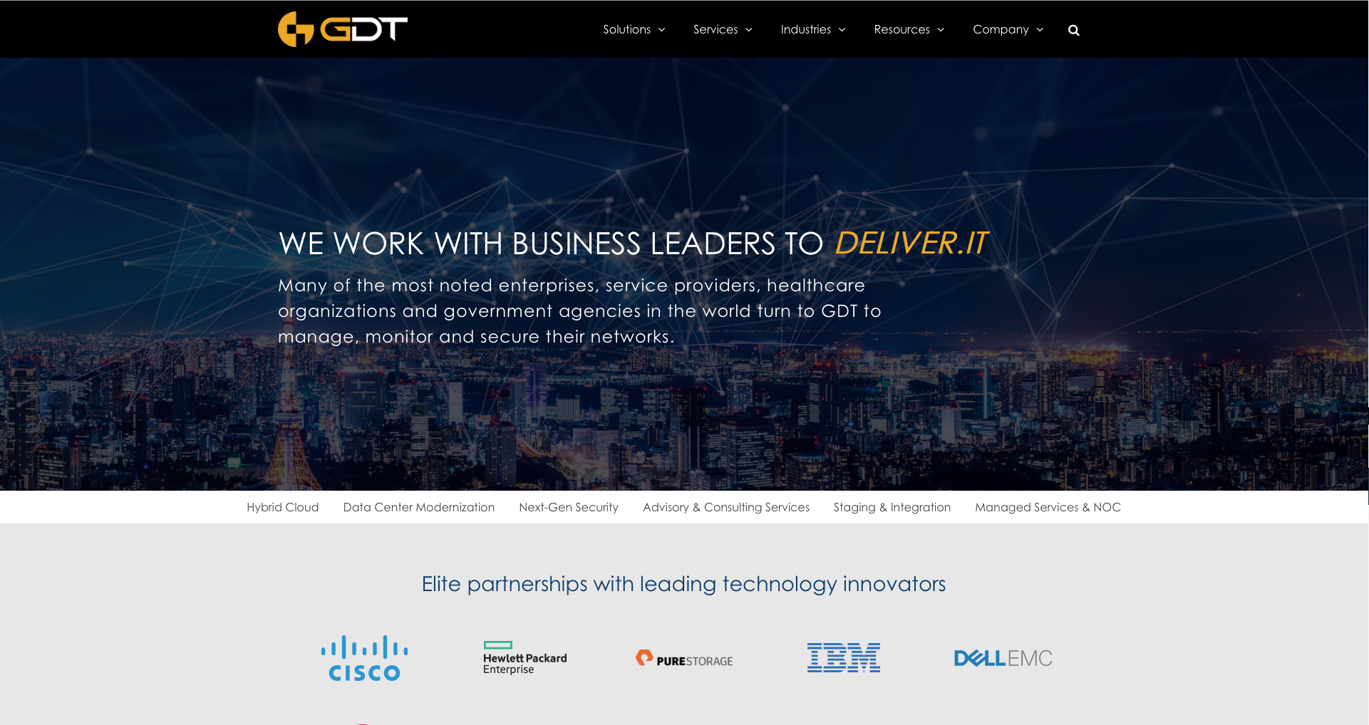 Home – GDT IT Solutions for business, government, healthcare and more